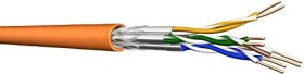 Draka UC900 HS23 Twisted-Pair Simplex installation cable, Cat7, S/FTP, without plug, 50m, orange, Eca (60015558)