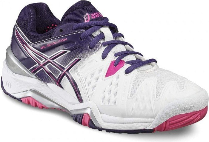 5dfefa72bd Asics gel-resolution 6 white/pink (ladies) (E550Y-0133) starting ...
