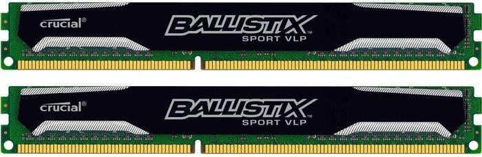 Crucial Ballistix Sport VLP DIMM Kit 16GB, DDR3L-1600, CL9-9-9-24 (BLS2C8G3D1609ES2LX0CEU)