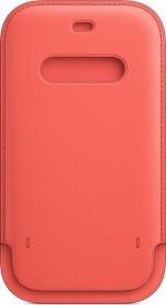 Apple Lederhülle mit MagSafe für iPhone 12/12 Pro zitruspink (MHYA3ZM/A)