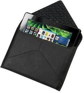 BlackBerry leather envelope sleeve for Playbook black (ACC-39317-201) -- The RIM and BlackBerry families of related marks, images and symbols are the exclusive properties of, and trademarks of, Research In Motion � used by permission.