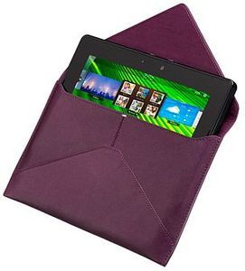 BlackBerry leather envelope sleeve for Playbook purple (ACC-39317-202) -- The RIM and BlackBerry families of related marks, images and symbols are the exclusive properties of, and trademarks of, Research In Motion – used by permission.