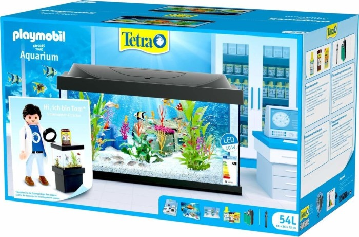 Tetra Starter Line Led 54 Playmobil Edition Akwarium Zestaw Bez Szafka Czarny 54l 276338 Od Pln 29330