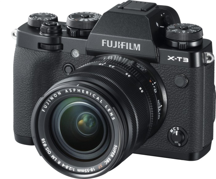 Fujifilm X-T3 black with lens XF 18-55mm 2.8-4.0 R LM OIS