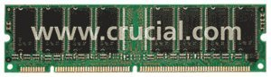 Crucial DIMM     512MB, SDR-133, CL2 (CT64M64S4D7E)