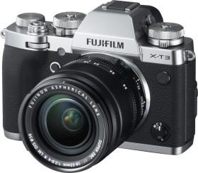 Fujifilm X-T3 silber mit Objektiv XF 18-55mm 2.8-4.0 R LM OIS