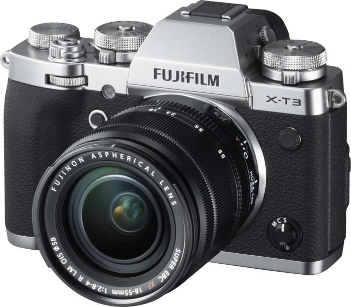 Fujifilm X-T3 silver with lens XF 18-55mm 2.8-4.0 R LM OIS