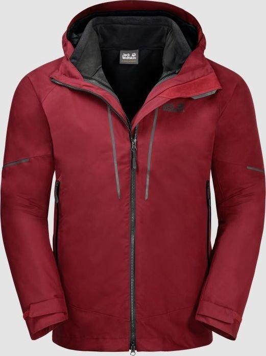 Jack Wolfskin Sierra Trail 3in1 Jacket red maroon (men) (1110671-2049)