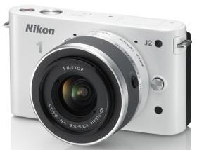 Nikon 1 J2 weiß mit Objektiv VR 10-30mm 3.5-5.6 und VR 30-110mm 3.8-5.6 (VVA162K003)