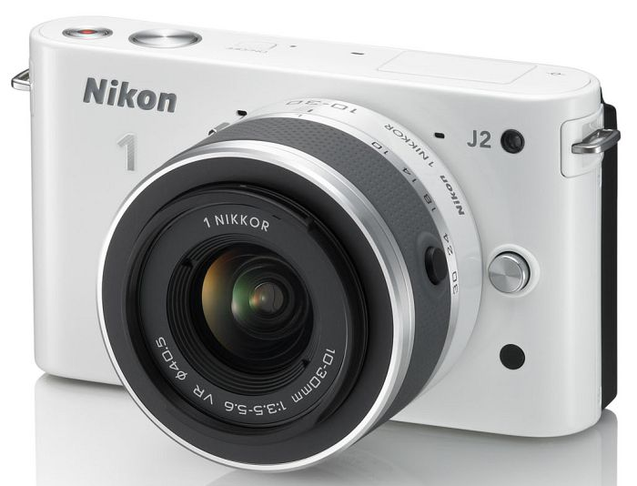 Nikon 1 J2 (EVIL) white with lens VR 10-30mm 3.5-5.6 and VR 30-110mm 3.8-5.6 (VVA163K003)
