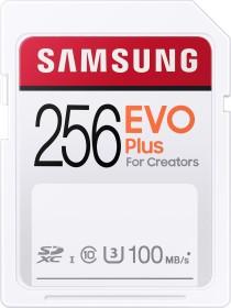 Samsung EVO Plus for Creators 2020 R100 SDXC 256GB, UHS-I U3, Class 10 (MB-SC256H/EU)