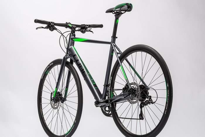 Cube SL Road Pro grey black flashgreen model 2016