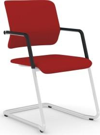 Viasit Drumback Freischwinger telegrau Konferenzstuhl, rot (DB-FS100)