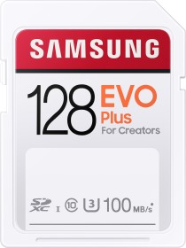 Samsung EVO Plus for Creators 2020 R100 SDXC 128GB, UHS-I U3, Class 10 (MB-SC128H/EU)