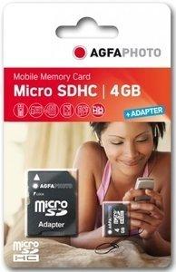 AgfaPhoto R5/W10 microSDHC 4GB Kit, Class 4 (10452)