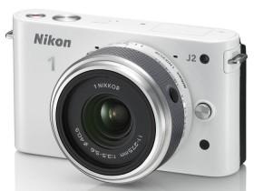 Nikon 1 J2 weiß mit Objektiv 11-27.5mm 3.5-5.6 (VVA162K005)