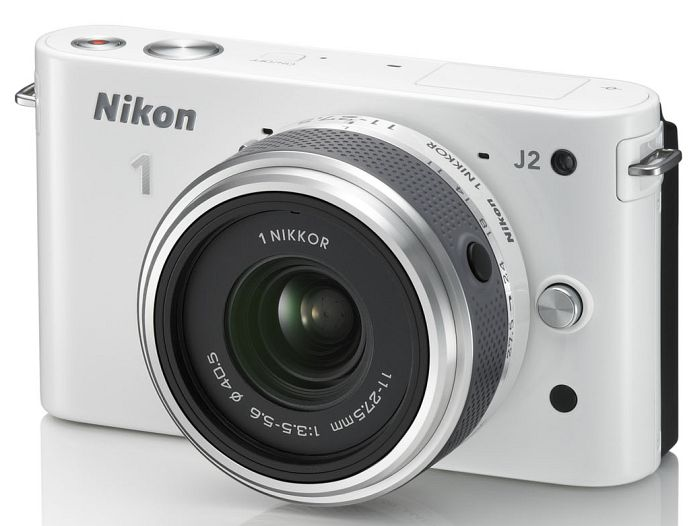 Nikon 1 J2 (EVIL) white with lens 11-27.5mm 3.5-5.6 (VVA162K005)