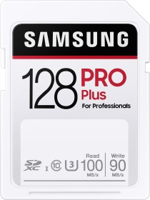 Samsung PRO Plus for Professionals R100/W90 SDXC 128GB, UHS-I U3, Class 10 (MB-SD128H/EU)