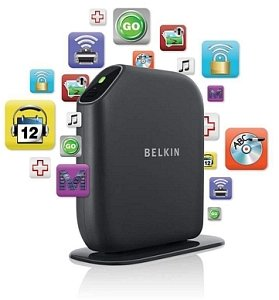 Belkin Play wireless Modem Router, 300Mbps (MIMO) Dual Band (simultaneous) (F7D4402uk)
