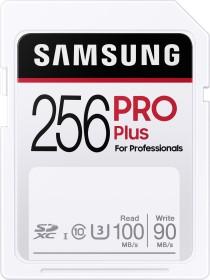 Samsung PRO Plus for Professionals 2020 R100/W90 SDXC 256GB, UHS-I U3, Class 10 (MB-SD256H/EU)