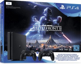Sony PlayStation 4 Slim - 1TB inkl. 2 Controller Star Wars Battlefront II Bundle schwarz