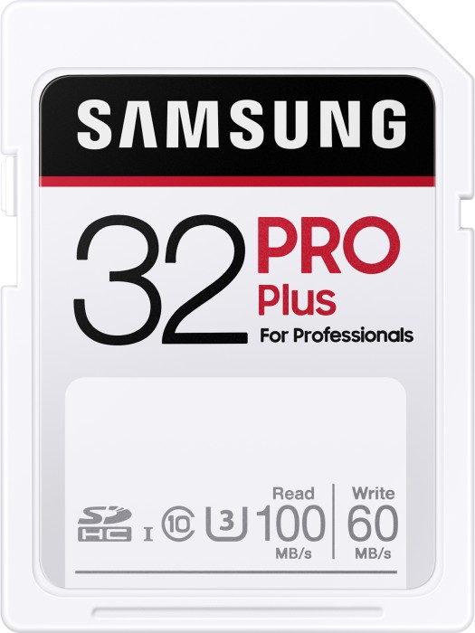 Samsung PRO Plus for Professionals 2020 R100/W60 SDHC 32GB, UHS-I U3, Class 10 (MB-SD32H/EU)