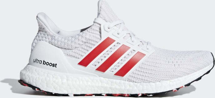 adidas Ultra Boost ftwr white/active red/chalk white (Herren) (DB3199)