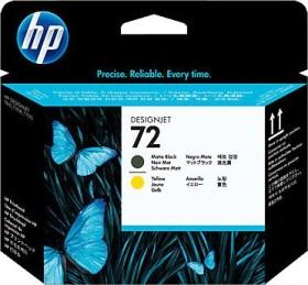 HP Druckkopf 72 schwarz matt/gelb (C9384A)