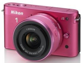 Nikon 1 J2 pink mit Objektiv VR 10-30mm 3.5-5.6 und VR 30-110mm 3.8-5.6 (VVA165K003)