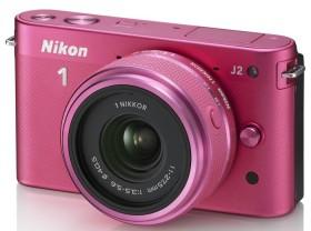 Nikon 1 J2 pink mit Objektiv 11-27.5mm 3.5-5.6 (VVA165K005)