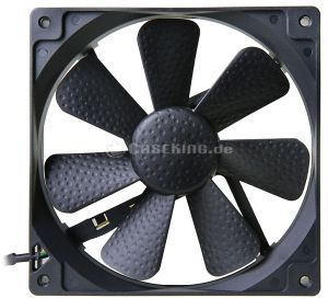 Zaward Golf Fan GII black, 140x140x25mm, 300-1200rpm, 125.30m³/h, 10.1-20.3dB(A) (ZG2-140B)
