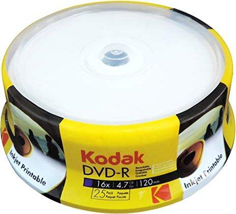 Kodak DVD-R 4.7GB 16x, 25er Spindel -- via Amazon Partnerprogramm