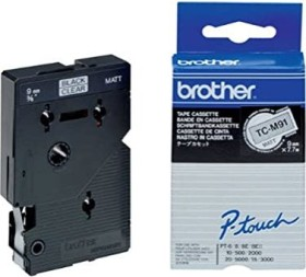 Brother TC-M91 9mm, schwarz/transparent (TCM91)