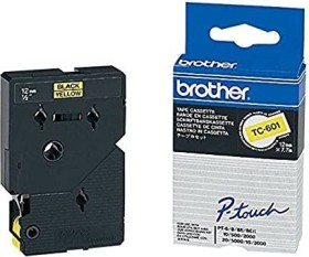 Brother TC-601 12mm, schwarz/gelb (TC601)
