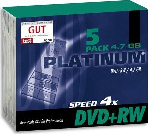 BestMedia Platinum DVD+RW 4.7GB 4x, 5-pack Slimcase (100161)