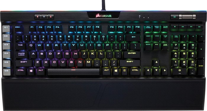 Corsair Gaming K95 RGB Platinum, MX SPEED RGB Silver, USB, DE (CH-9127014-DE)