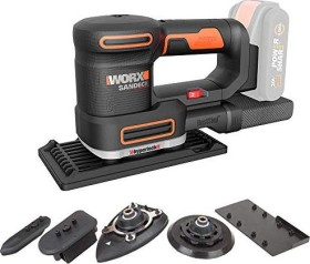 Worx WX820.9 20V PowerShare cordless multi sander solo accessories included