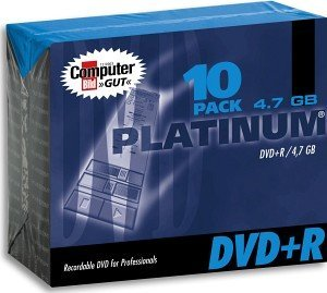BestMedia Platinum DVD+R 4.7GB 8x, 10-pack Slimcase (100100)
