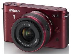 Nikon 1 J2 rot mit Objektiv VR 10-30mm 3.5-5.6 und VR 30-110mm 3.8-5.6 (VVA164K003)