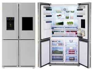 Amerikanischer Kühlschrank French Door : Side by side kühlschrank mit french door nur zentimeter breit u