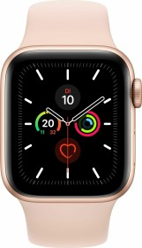 Apple Watch Series 5 (GPS + Cellular) 40mm Aluminium gold mit Sportarmband sandrosa (MWX22FD)