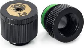 "Bitspower Touchaqua Wasserauslass 1/4"", Glorious Black, 2er-Pack (BPTA-EFW-V2-GB)"