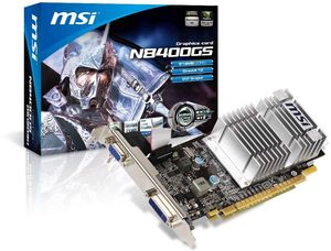 MSI N8400GS-D512D3H/LP, GeForce 8400 GS, 512MB DDR3, VGA, DVI (V240-013R)