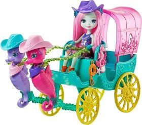 Mattel Enchantimals Seahorse Carriage Sandella Seahorse Doll snd Playset (FKV61)