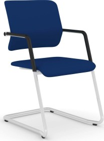 Viasit Drumback Freischwinger telegrau Konferenzstuhl, blau (DB-FS100.2)