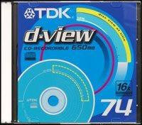 TDK d-view CD-R 74min/650MB, 100-pack Slimcase