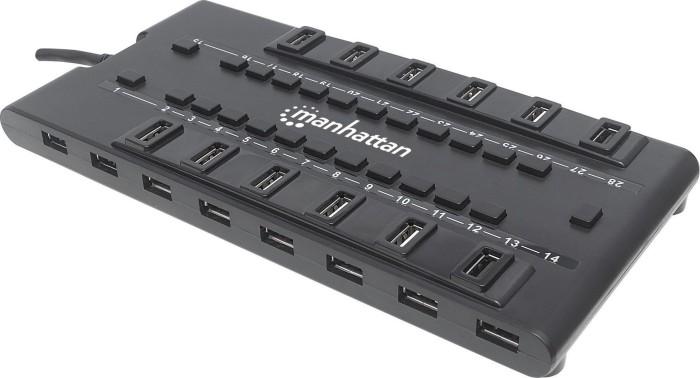 Manhattan MondoHub II USB-Hub, 4x USB-A 3.0, 24x USB-A 2.0, USB-A 3.0 [Stecker] (163606)
