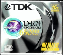 TDK Reflex CD-R74, 650MB, 100er Jewelcase, 1-12