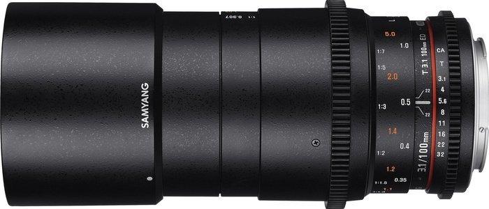 Samyang 100mm T3.1 VDSLR ED UMC Makro für Fujifilm X schwarz