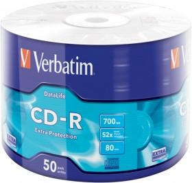 Verbatim Extra Protection CD-R 80min/700MB 52x, 50er-Pack (43787)